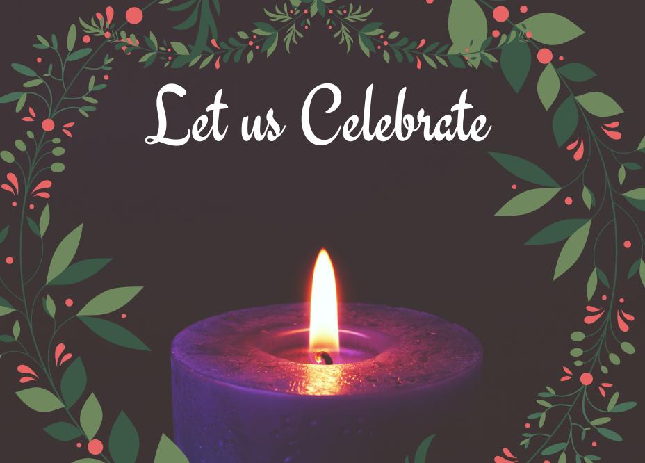 Celebrating the Season. Let us Celebrate.