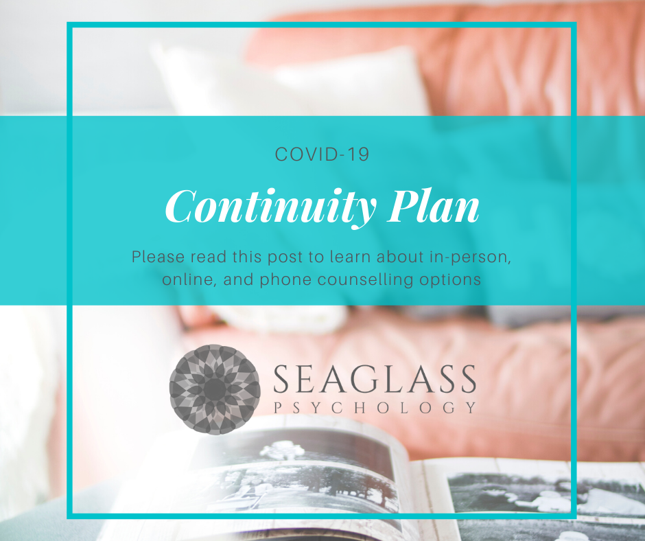 COVID-19: Continuity Plan. Please read this post to learn about in-person, online, and phone counselling options.