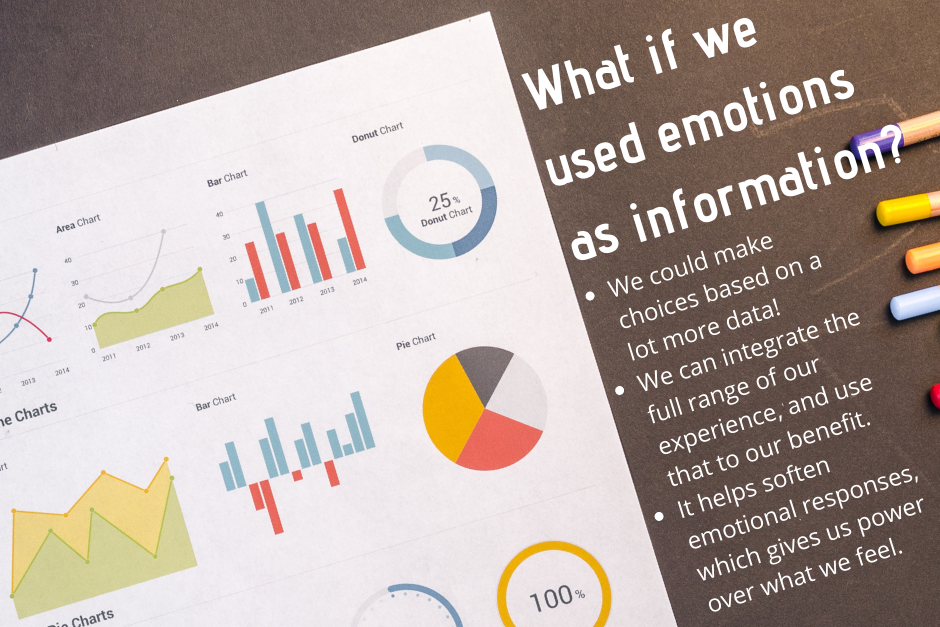 Why do we have emotions? What if we used emotions as information?